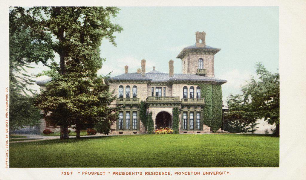 Stock Photo: 1899-11955 Prospect' President's Residence, Princeton University Postcard. 1903, 'Prospect' President's Residence, Princeton University Postcard