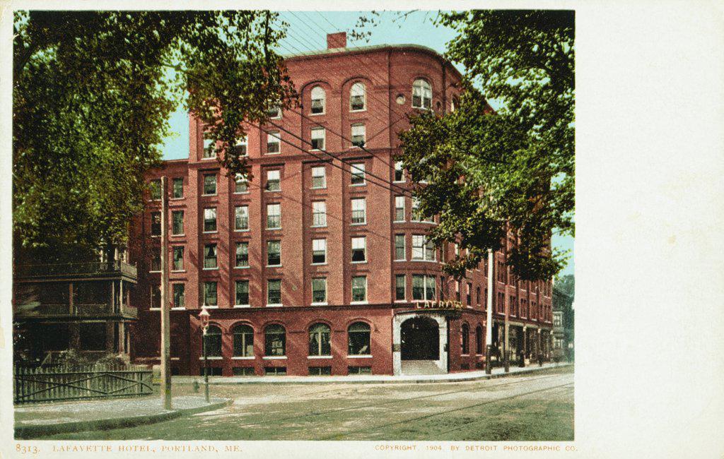Stock Photo: 1899-12071 Lafayette Hotel, Portland, ME. Postcard. 1904, Lafayette Hotel, Portland, ME. Postcard