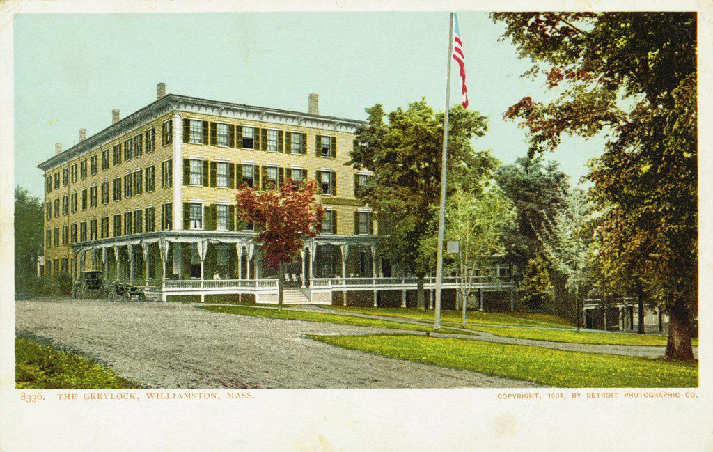 Stock Photo: 1899-12078 The Greylock, Williamston, Mass. Postcard. 1904, The Greylock, Williamston, Mass. Postcard