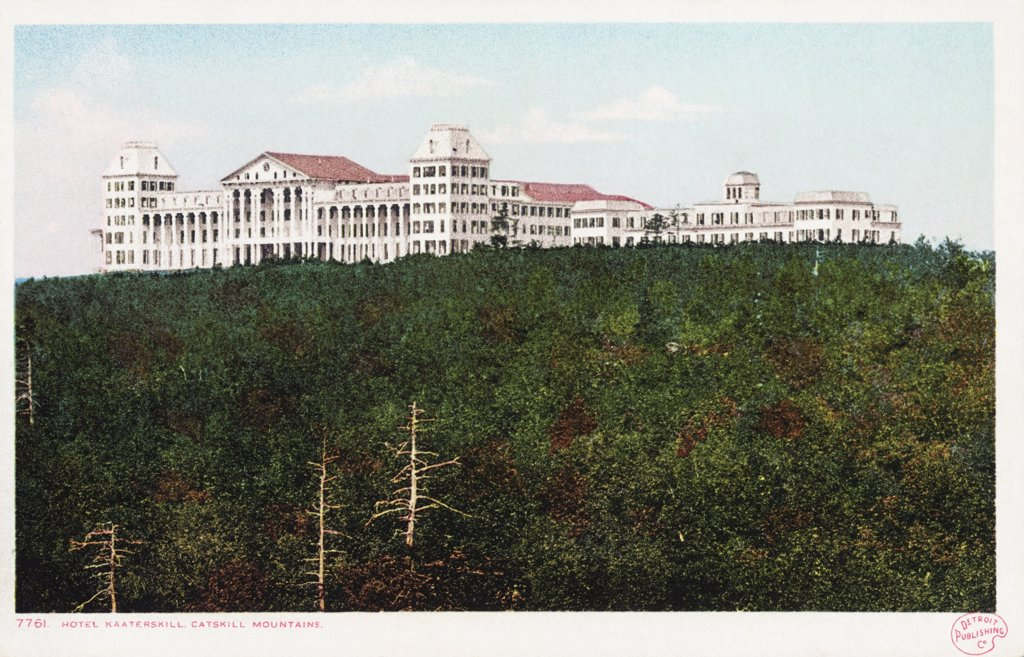 Hotel Kaaterskill, Catskill Mountains Postcard. ca. 1905-1939, Hotel Kaaterskill, Catskill Mountains Postcard  : Stock Photo