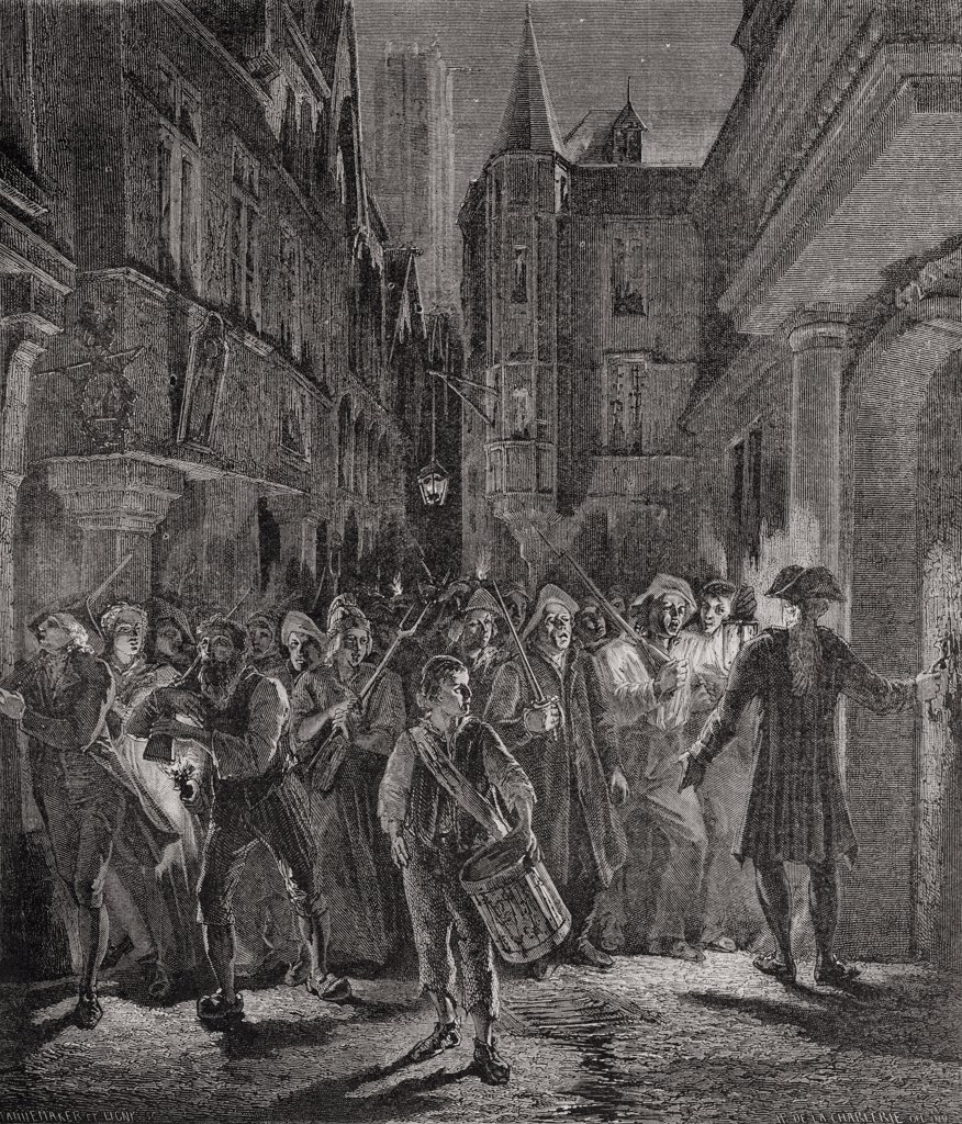 French Revolution The People Take to the Streets of Paris, 1789 : Stock Photo
