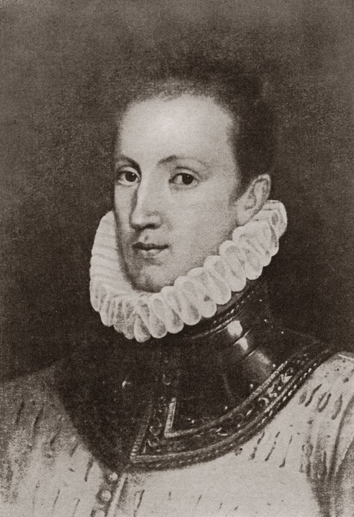 Sir Philip Sydney 1554 to 1586 Elizabethan poet soldier courtier : Stock Photo