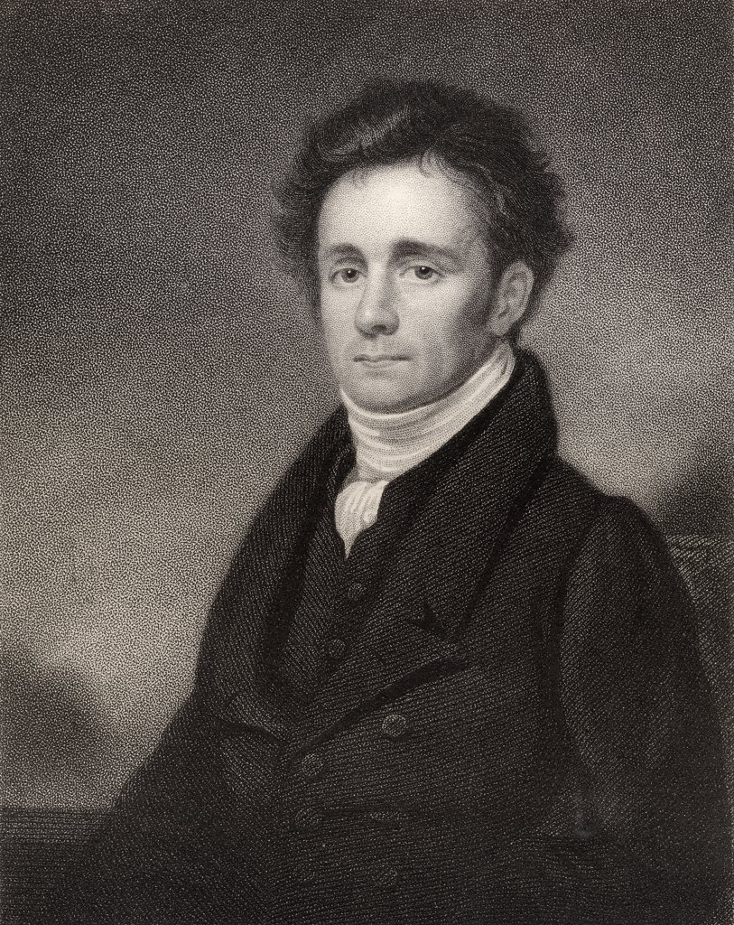Robert Jameson 1774 to 1854 Scottish naturalist and mineralogist Regius professor of natural history in the University of Edinburgh Engraved by J Jenkins after K Macleary From the book National Portrait Gallery volume IV published c 1835 : Stock Photo