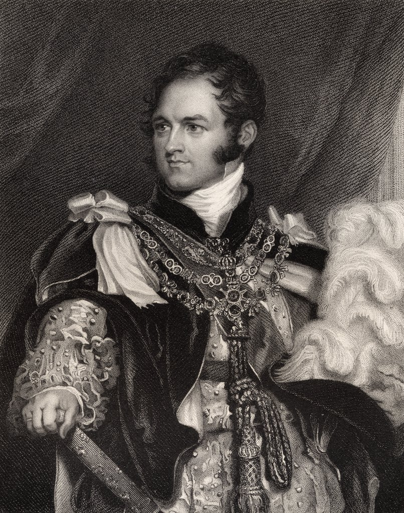 Leopold Georges Chretien Frederic of Saxe-Coburg 1790 to 1865 King of the Belgians 1831 to 1865 Uncle of Queen Victoria Engraved by J Thomson after Sir T Lawrence From the book National Portrait Gallery volume III published c 1835 : Stock Photo