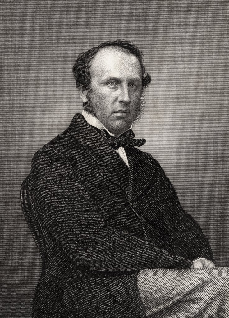 Charles John Canning 1st Earl Canning Lord Viscount Canning 1812 to 1862 English statesman and Governor General of India Engraved by D J Pound from a photograph by Mayall From The History of the Indian Mutiny published 1858 : Stock Photo