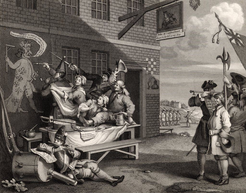 Stock Photo: 1899-19164 England Engraved by T Phillibrown after Hogarth from The Works of Hogarth published London 1833