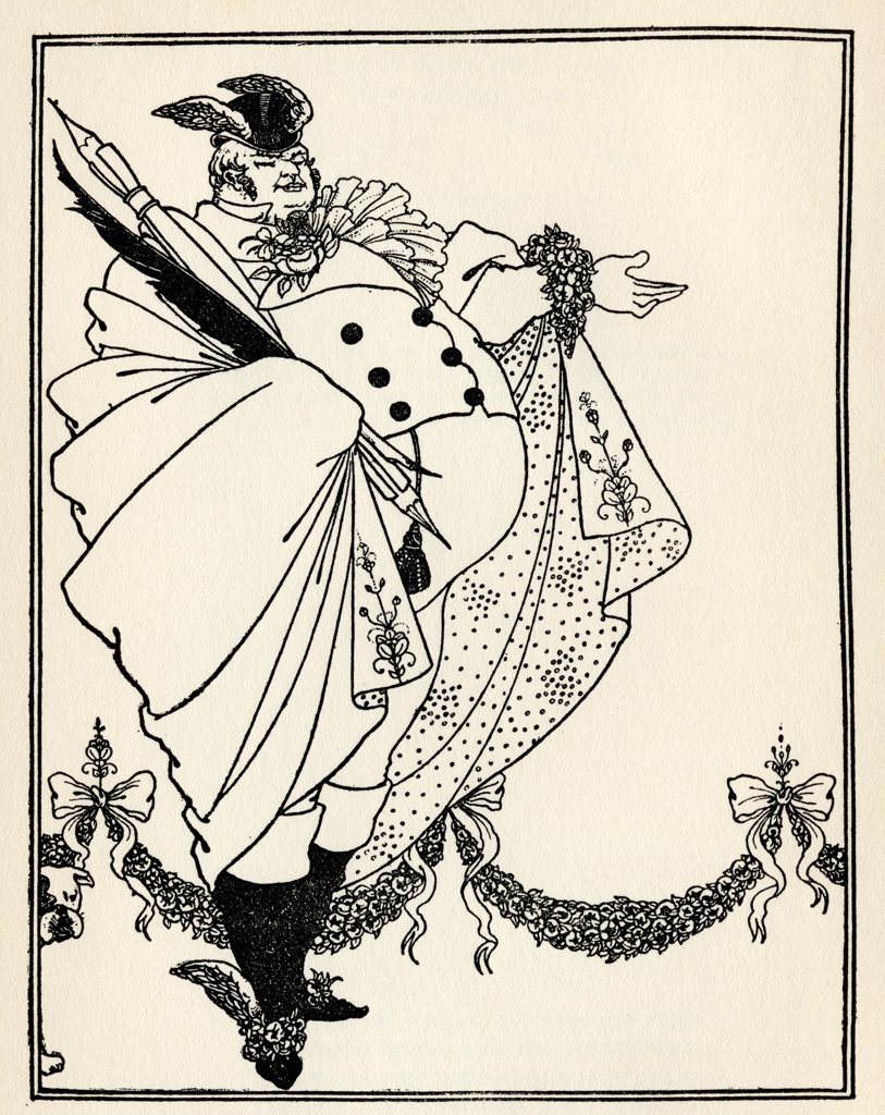 Design by Aubrey Vincent Beardsley 1872 to 1898 English illustrator of the Art Nouveau era for the contents page of The Savoy Volume 1 : Stock Photo