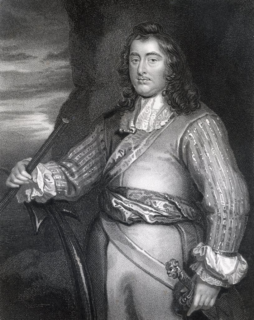 George Monck 1st Duke of Albemarle Earl of Torrington Baron Monck of Potheridge Beauchamp and Teyes 1608 to 1670 English general who fought in Ireland and Scotland during English Civil Wars Engraved by W T Mote From the book The National Portrait Gallery Volume IV published c1820 : Stock Photo
