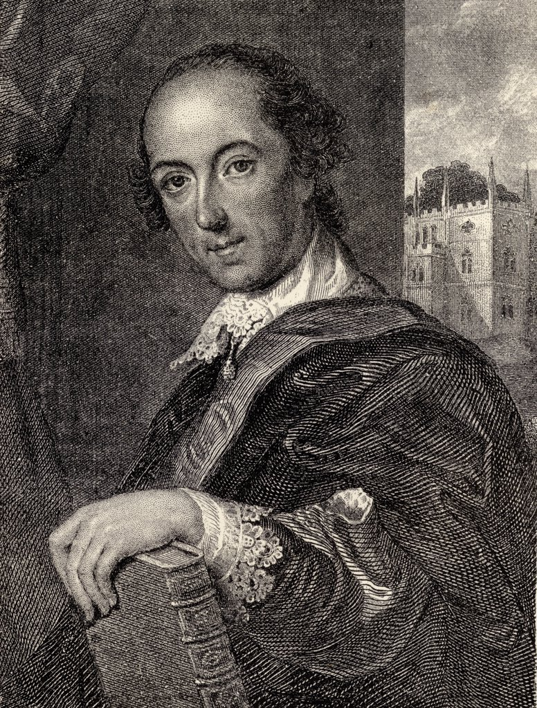 Stock Photo: 1899-19470 Horace Walpole 4th Earl of Orford 1717 - 1797 English politician and writer After painting by John Giles Eccardt From Memoirs of Eminent Etonians by Sir Edward Creasy published London 1876