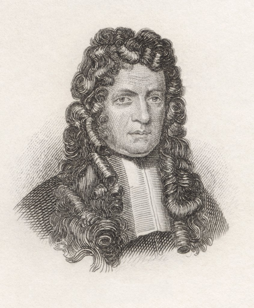 Johann Georg Graevius 1632 to 1703. German classical scholar and critic. From the book Crabbes Historical Dictionary published 1825. : Stock Photo