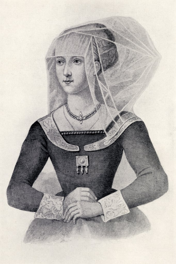Stock Photo: 1899-20418 Elizabeth Woodville or Wydeville, circa 1437 to 1492. Queen consort of Edward IV, King of England. From the book Our Queen Mothers by Elizabeth Villiers.