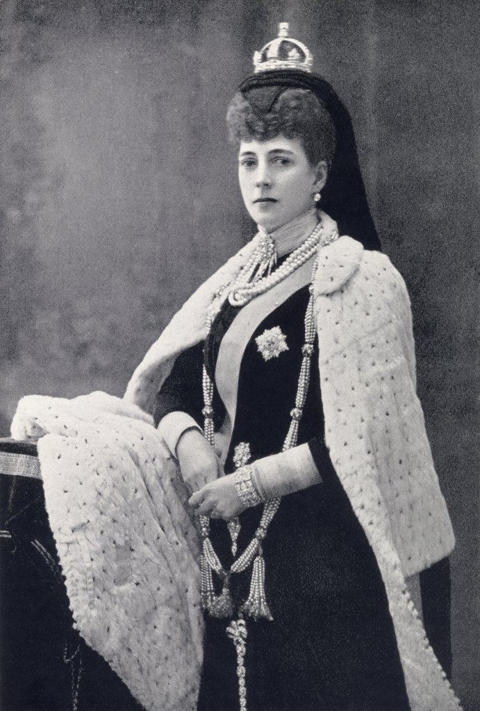 Stock Photo: 1899-20419 Alexandra of Denmark, 1844 to 1925. Queen of the United Kingdom and the British Dominions and Empress of India from 1901 to 1910 as the consort of Edward VII. From the book Our Queen Mothers by Elizabeth Villiers.