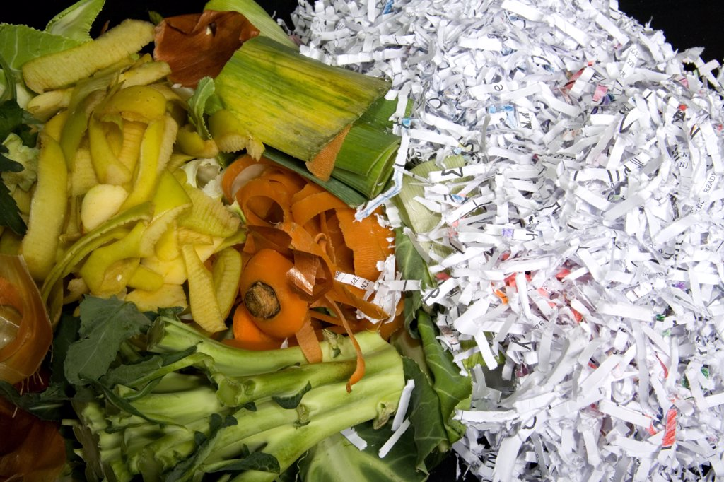 Stock Photo: 1899-21390 Organic waste for composting.