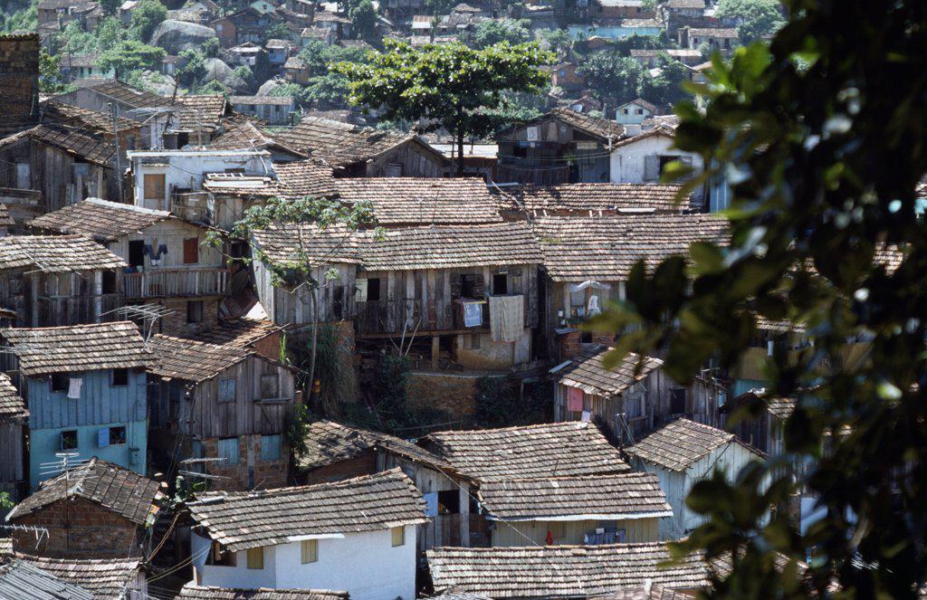 BRAZIL Favela. Rooftops of shanty town..    : Stock Photo
