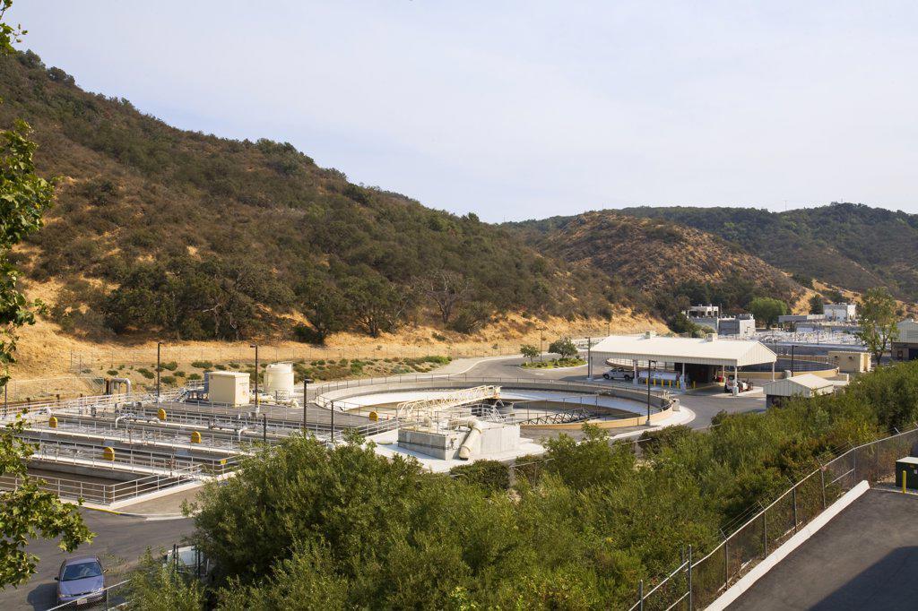 Hill Canyon Wastewater Treatment Plant, Camarillo, Ventura County, California, USA.  : Stock Photo