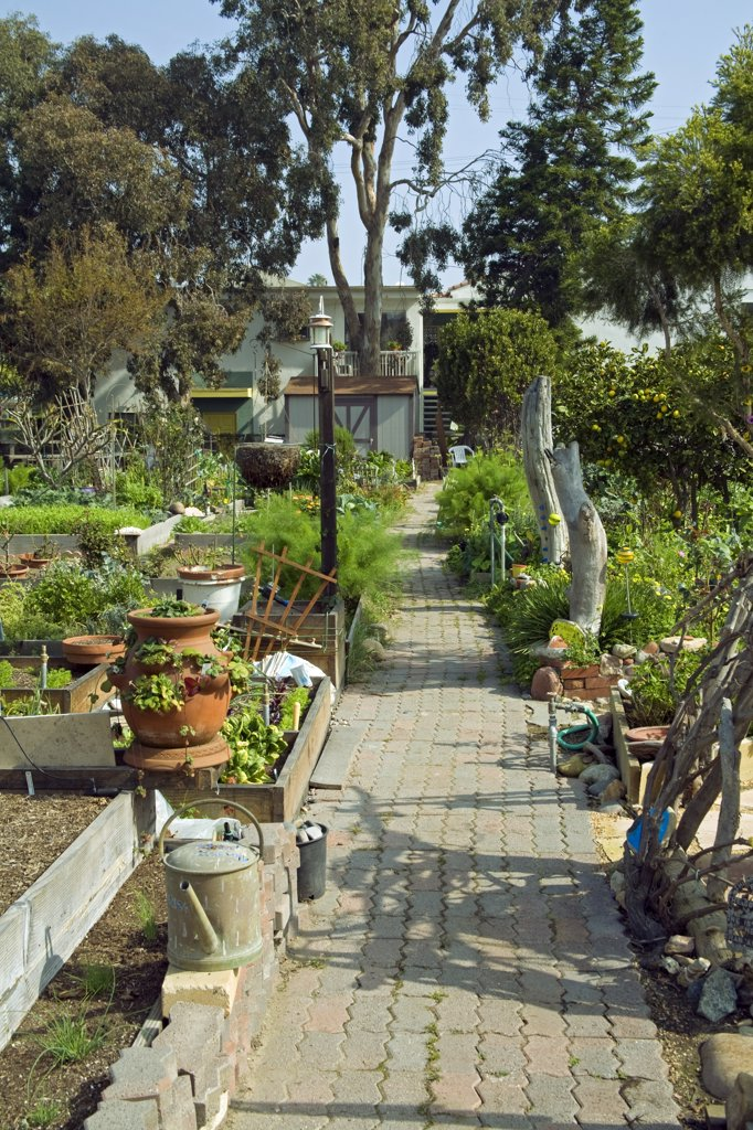 Eastwind Gardens, Marina Del Rey. Eastwind Community Gardens, Marina Del Rey, Los Angeles, California, USA : Stock Photo
