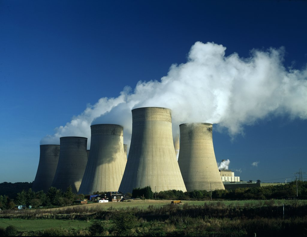 Stock Photo: 1899-34111 Cooling towers, Ratcliffe power station Nottinghamshire.