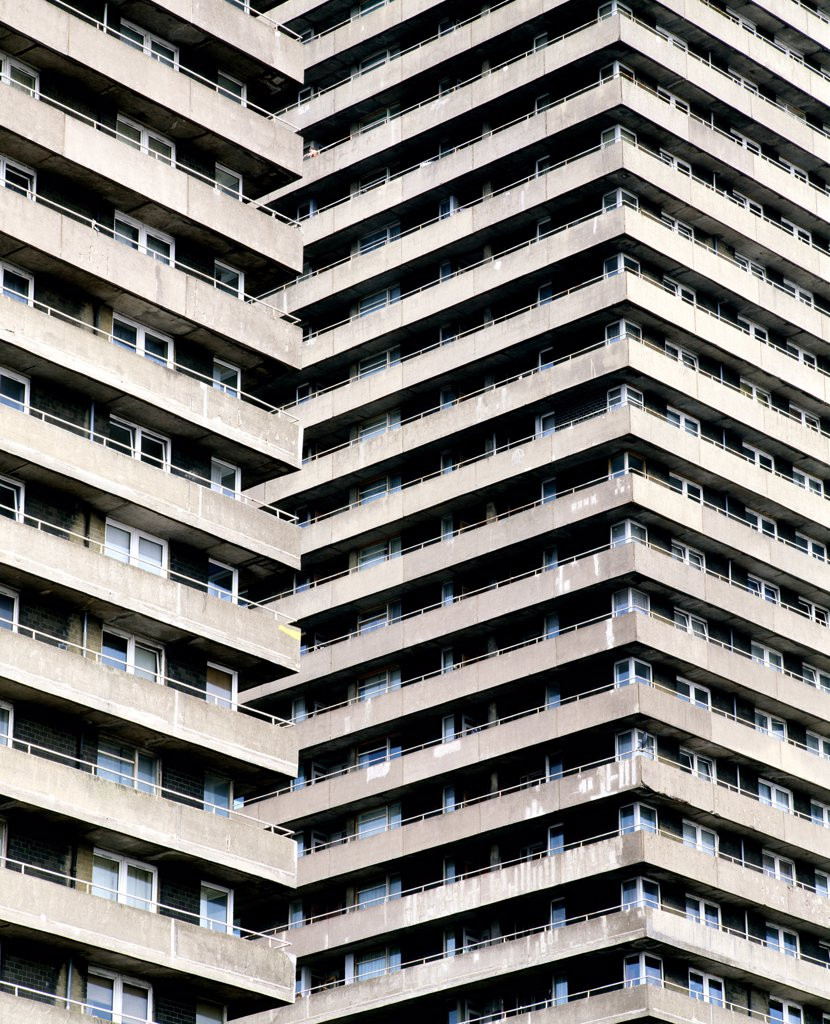 High rise council housing estate, Glasgow, Scotland.  : Stock Photo