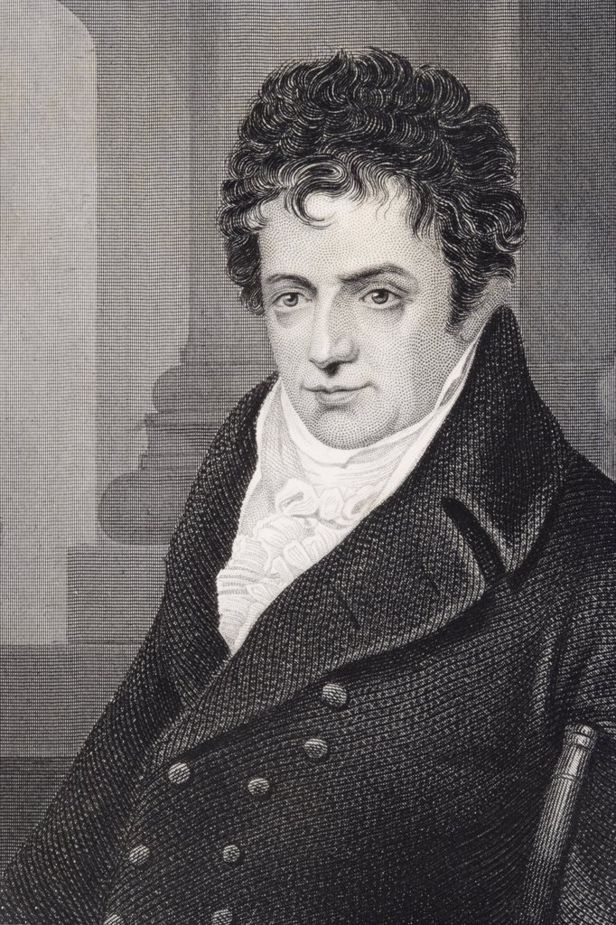 Robert Fulton 1765-1815 American engineer and inventor of the steamship Engraving from a 19th century print : Stock Photo