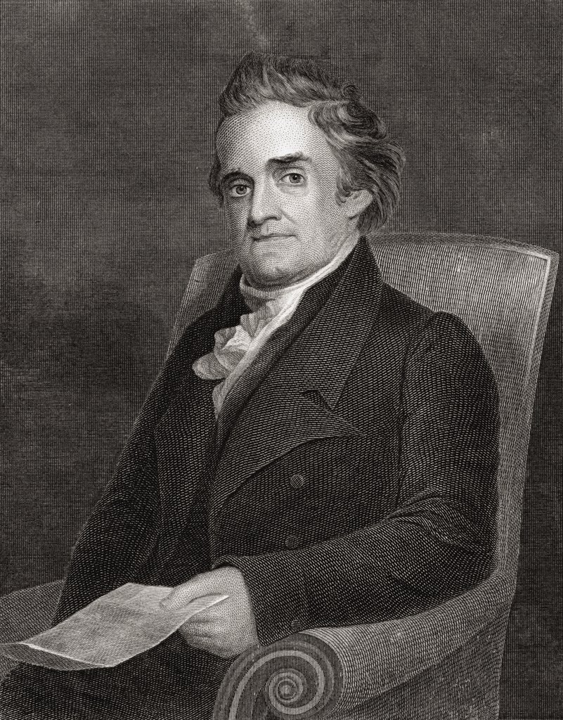 Noah Webster 1758 to 1843 American lexicographer author and editor From 19th century engraving by Kellogg after Morse : Stock Photo
