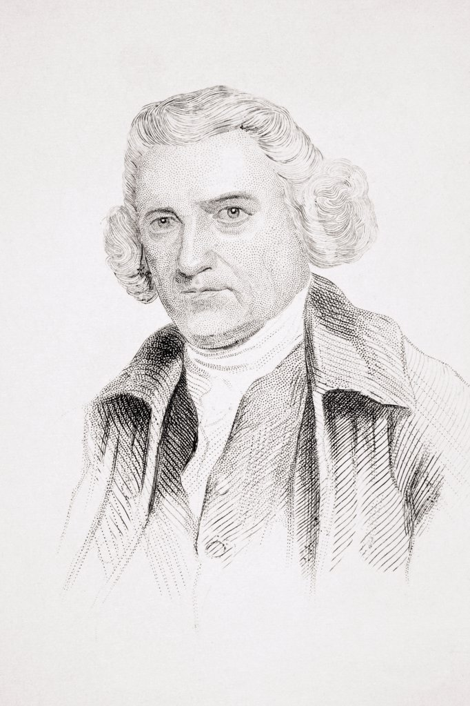 Stock Photo: 1899-38001 John Smeaton 1724-1792 English engineer and founder of the civil engineering profession in Great Britain From Old England's Worthies by Lord Brougham and others published London circa 1880's