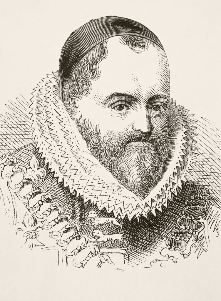 William Camden 1551 to 1623 English antiquarian and historian author of Britannia. From The National and Domestic History of England by William Aubrey published London circa 1890 : Stock Photo