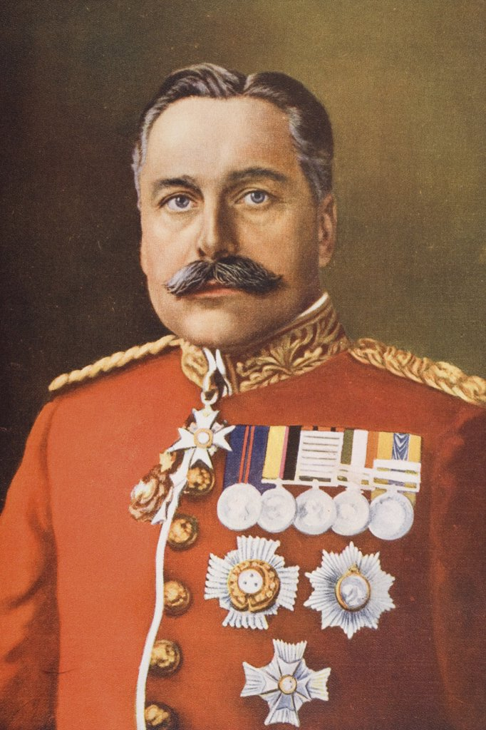 General Sir Douglas Haig, 1861-1928. Field Marshal, Commander British Expeditionary Force. From a photograph by J. Russell and sons. : Stock Photo