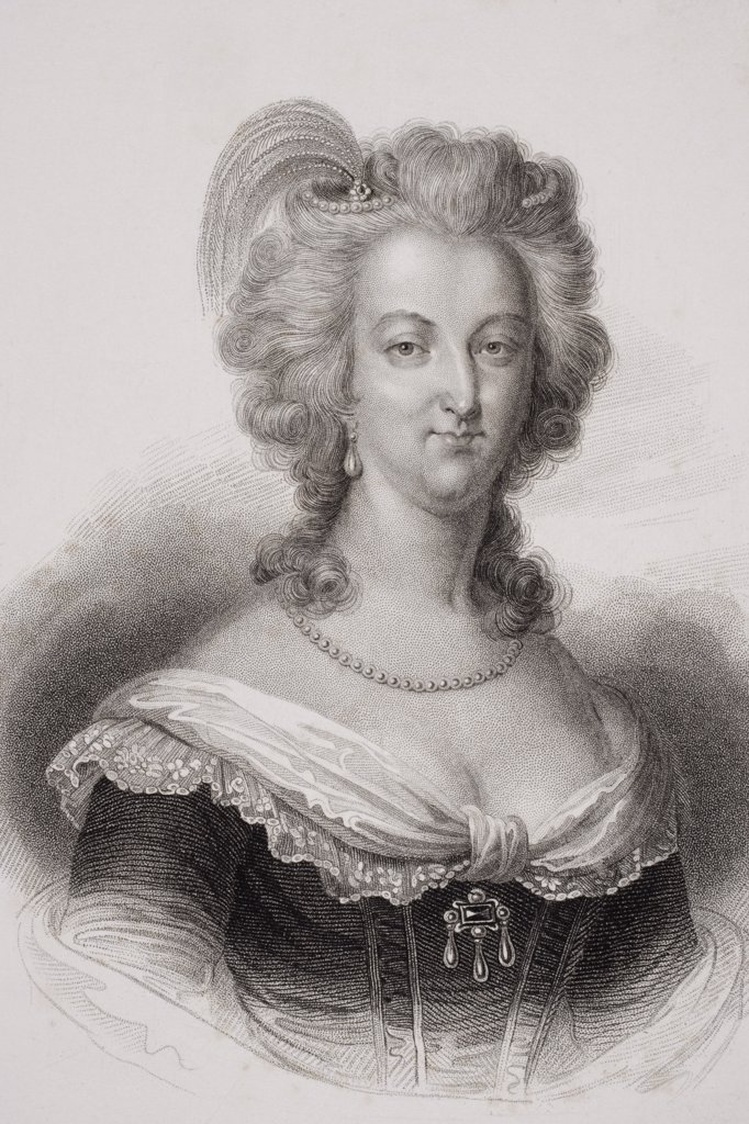 Marie Antoinette 1755-1793. Queen of France, wife of Louis XVI. Engraved by S. Freeman. : Stock Photo