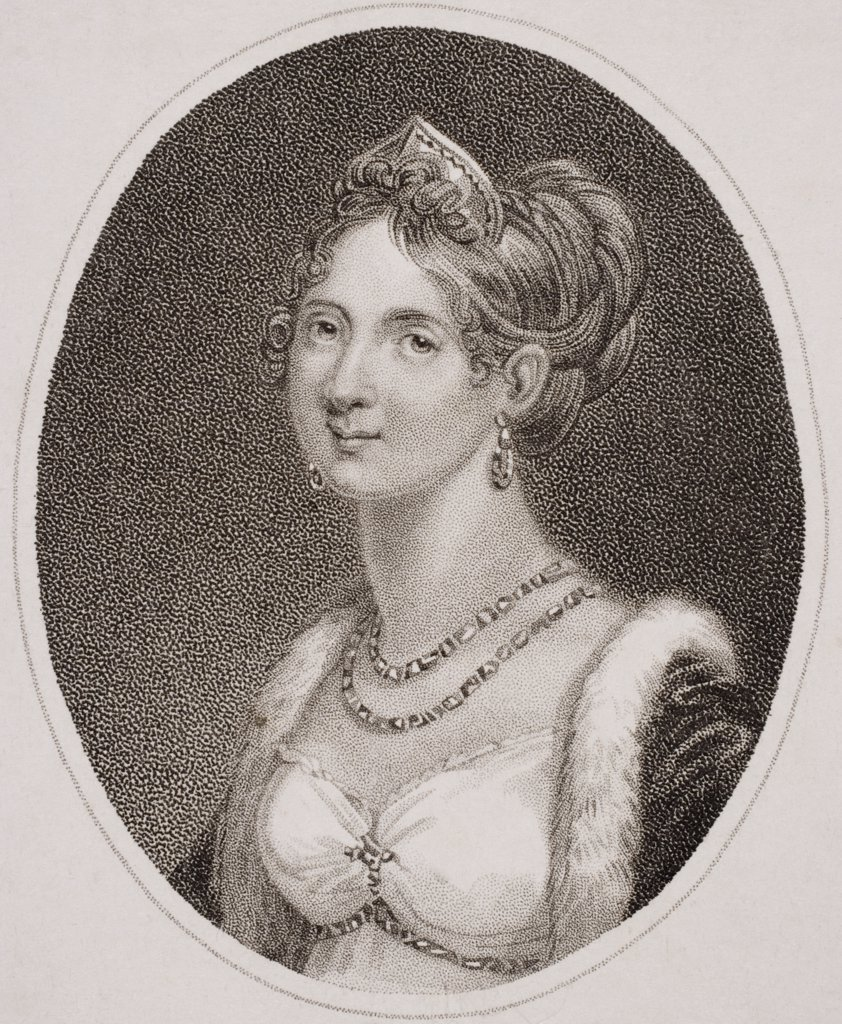 Stock Photo: 1899-39237 Marie Louise, Empress of the French, Duchess of Parma, Piacenza and Guastalla, 1791-1847. Second wife of Napoleon I. Engraved by Heath.