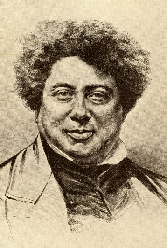 "Stock Photo: 1899-39556 Alexandre Dumas Senior, 1803 - 1870. French author known as pere. From the book """"The Masterpiece Library of Short Stories"""" volume 3 French."