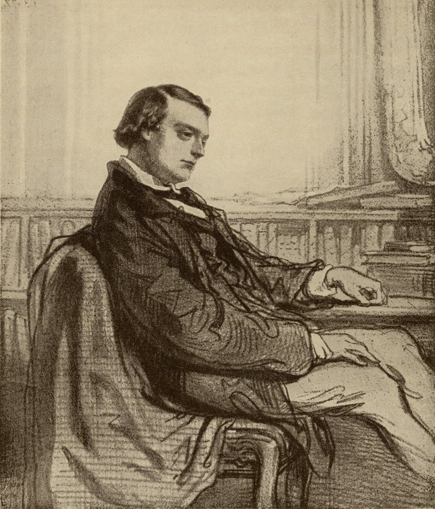 "Stock Photo: 1899-39587 Theodore de Banville, 1823-1891. French author and poet. From the book """"The Masterpiece Library of Short Stories, French Volume 4"""""