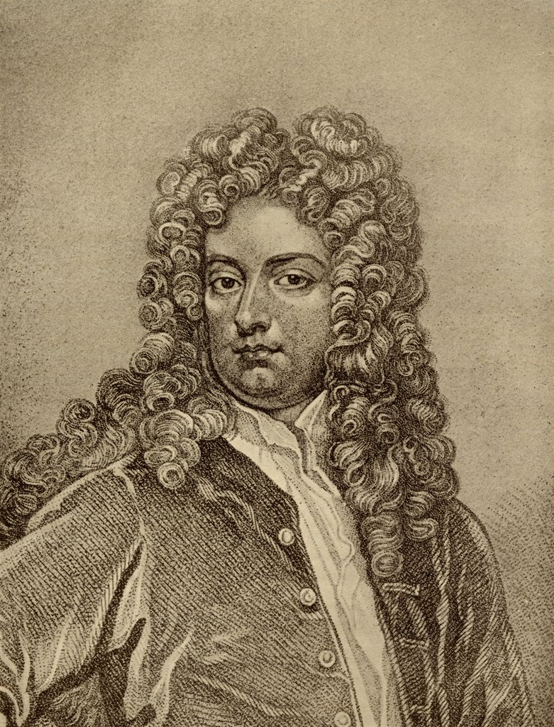 "Joseph Addison, 1672-1719. English essayist, poet and statesman.From the book """"The Masterpiece Library of Short Stories, English, Volume 7"""" : Stock Photo"