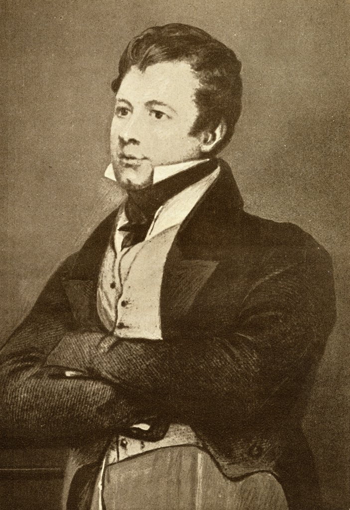 "Frederick Marryat, 1792-1848, known as Captain Marryat. English novelist and naval officer. From the book """"The Masterpiece Library of Short Stories, English, Volume 7"""" : Stock Photo"