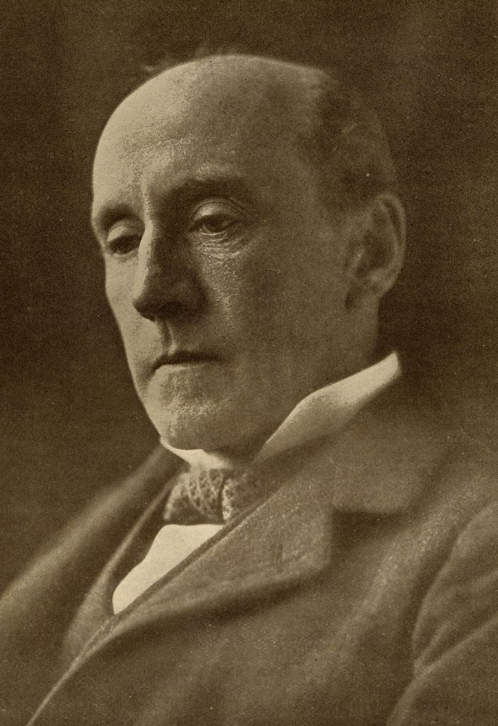 """Stock Photo: 1899-39655 Sir Anthony Hope Hawkins, 1863-1933. English novelist. From the book """"""""The Masterpiece Library of Short Stories, English, Volume 9"""""""""""