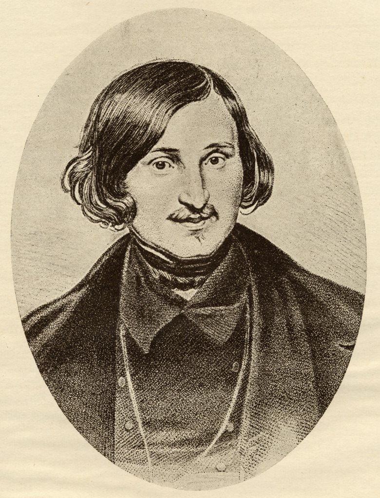 "Nikolay Vasilyevich Gogol, 1809-1852. Russian writer. From the book """"The Masterpiece Library of Short Stories, Russian Volume 12' : Stock Photo"