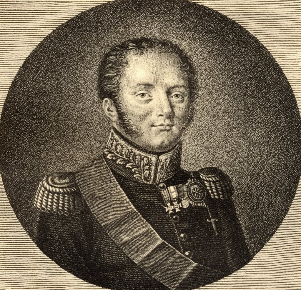 Alexander I of Russia.1777-1825. Aleksandr Pavlovich Romanov or Tsar Alexander I (The Blessed), Emperor of Russia, 1801-1825. Photo-etching from a rare print. From the book ' Lady Jackson's Works XIII. The Court of the Tuileries I' Published London 1899.  : Stock Photo
