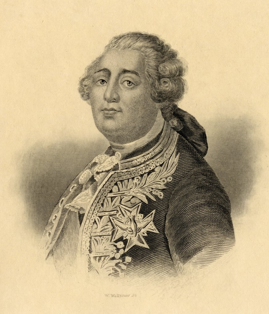 Stock Photo: 1899-40307 Louis XVI, 1754-1793. King of France 1774-1792. Engraved by W. Wellstood. From the book ' Lady Jackson's Works XI. The French Court and Society I' Published London 1899.
