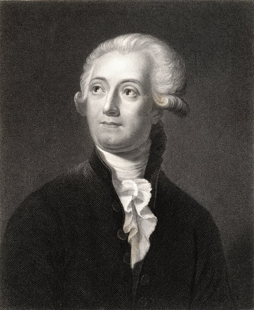 Stock Photo: 1899-40452 Antoine Laurent Lavoisier 1743-1794. French chemist. From the book 'Gallery of Portraits' published London 1833.