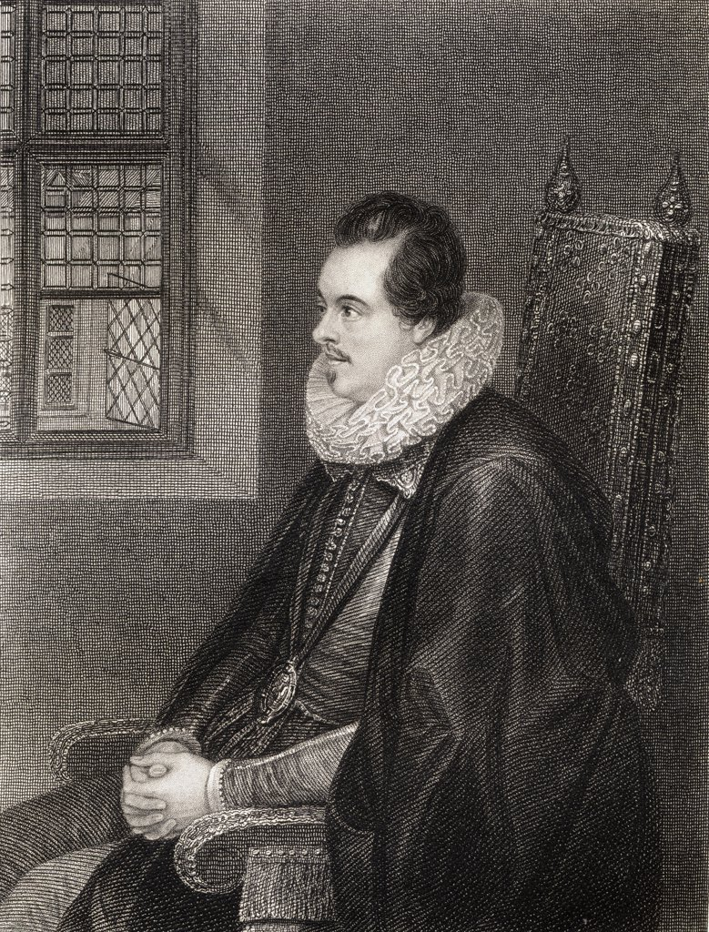 Charles Blount ,8th Lord Mountjoy, aka Earl of Devonshire, 1562-1606. English soldier From the book 'Lodge's British Portraits' published London 1823. : Stock Photo