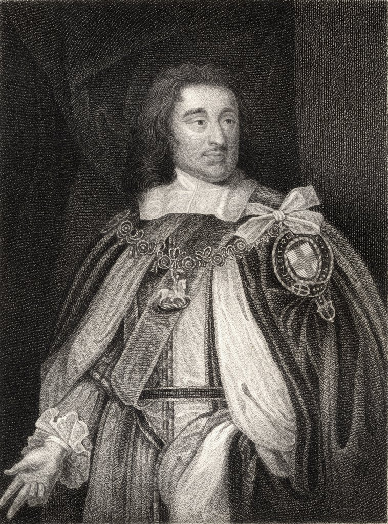 Stock Photo: 1899-40531 George Monck 1st. Duke of Albemarle, Earl of Torrington, 1608-1670. English general who fought in Ireland and Scotland during English Civil Wars. From the book 'Lodge's British Portraits' published London 1823.