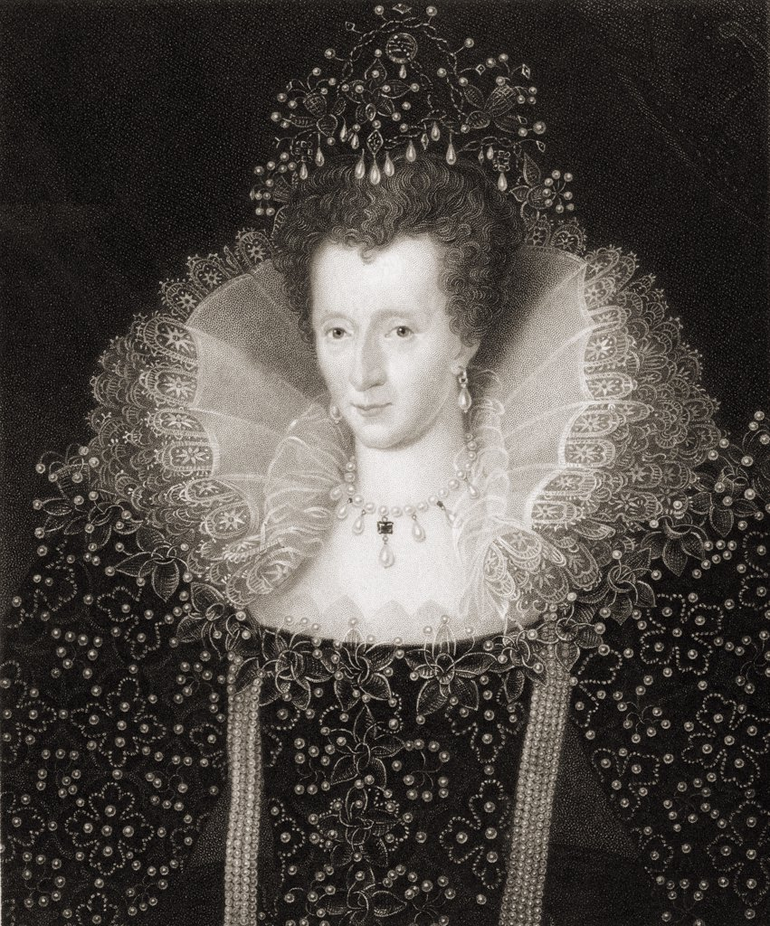 ELizabeth I, 1533-1603. Queen of England. From the book 'Gallery of Portraits' published London 1833. : Stock Photo