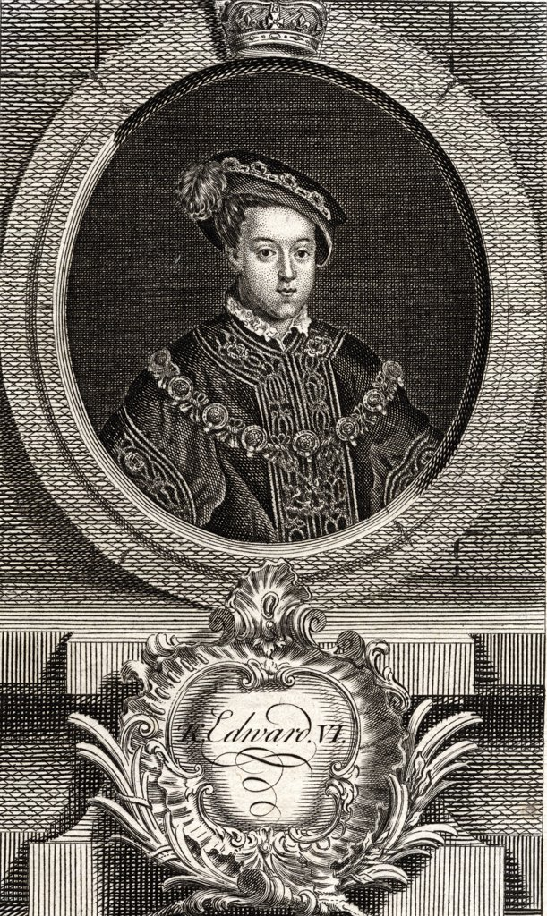 Stock Photo: 1899-41038 Edward VI, 1537 - 1553. King of England and Ireland.