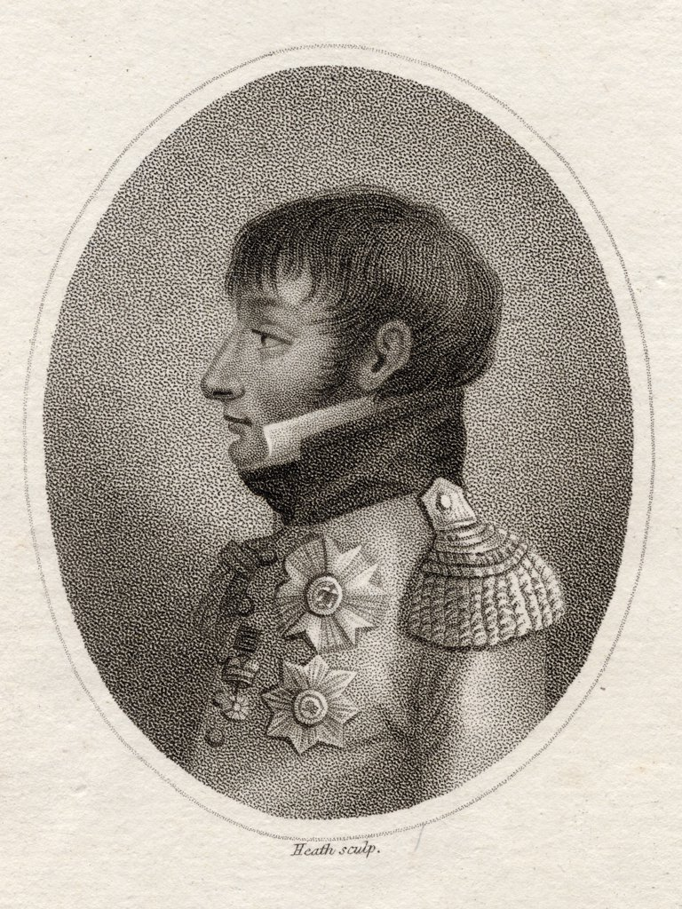 Stock Photo: 1899-41056 Louis Bonaparte, Late King of Holland, 1778-1846. Younger brother of Napoleon. 19th century print engraved for The Lady´s Magazine. Engraved by Heath