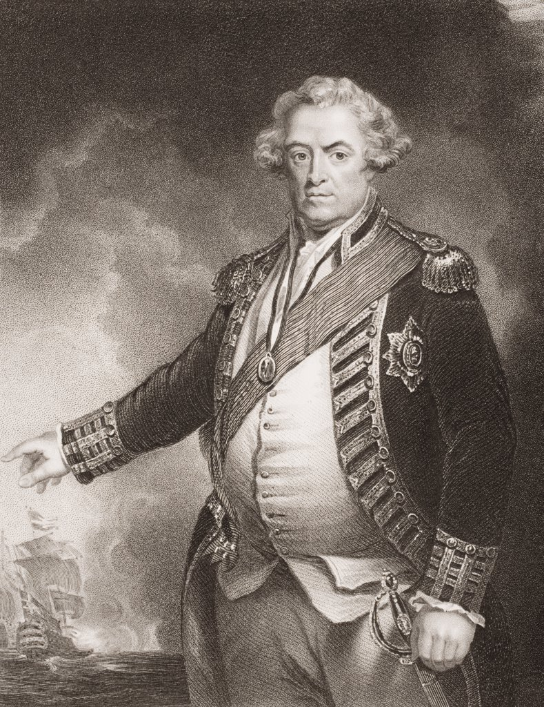 Stock Photo: 1899-41092 Adam Duncan, 1st .Viscount Duncan. 1731-1804 British Admiral Commander-in-Chief in the North Sea, 1795-1801.Engraved by W.T. Mote from the original of Hoppner.From England's Battles by Sea and Land by Lieut Col Williams, The London Printing and Publishing Company circa 1890s