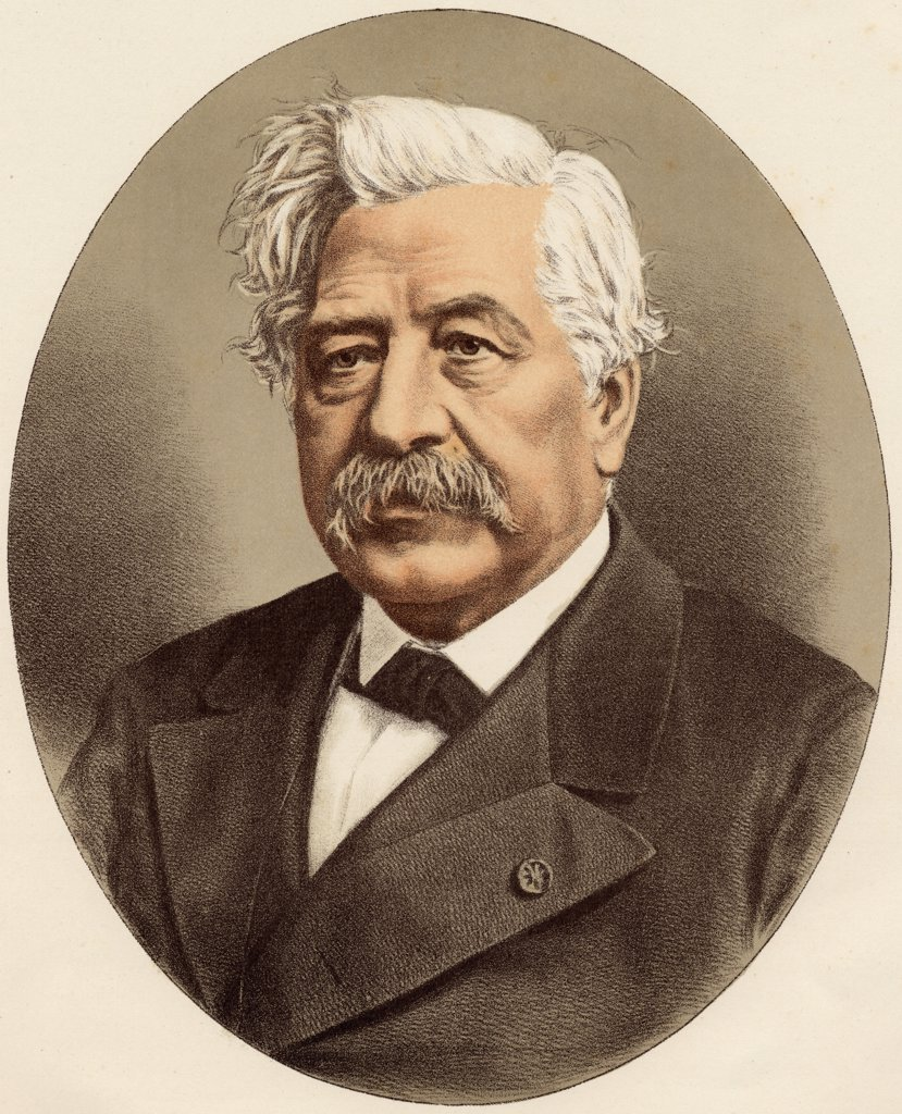 Ferdinand-Marie De Lesseps, Vicomte 1805-1894. French diplomat famous for building the Suez Canal.From a photograph by Monsieur Nadar. : Stock Photo