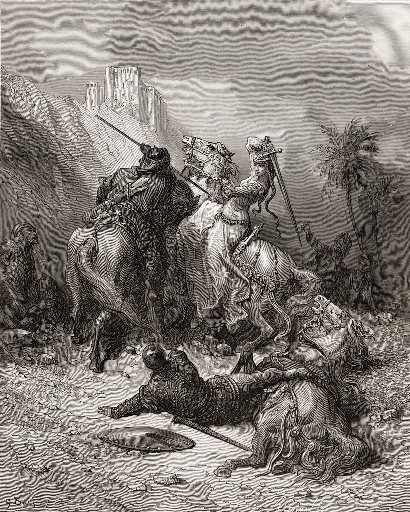 Stock Photo: 1899-41211 Florine of Burgundy a heroine during the first crusade