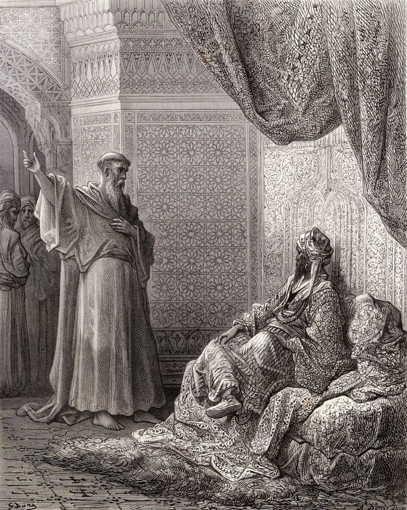 Stock Photo: 1899-41239 St Francis of Assisi 1181 1226 Founder of the Franciscan Order endeavours to convert the sultan Malek Kamel