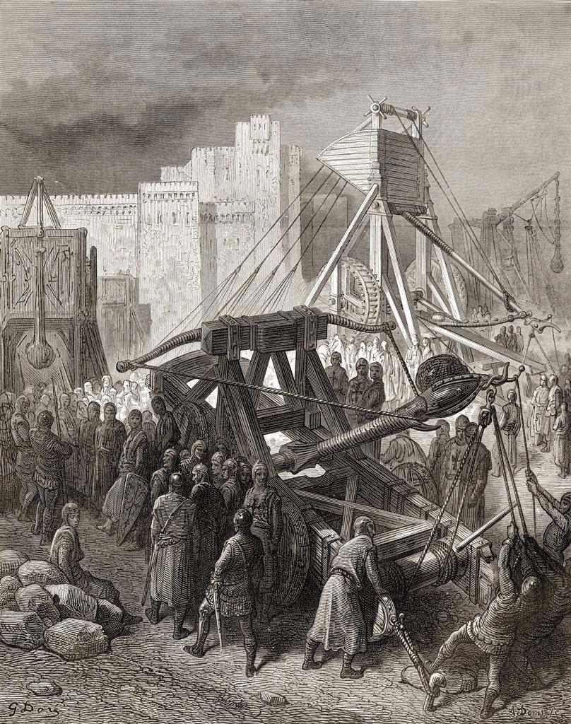 The crusaders war machinery : Stock Photo