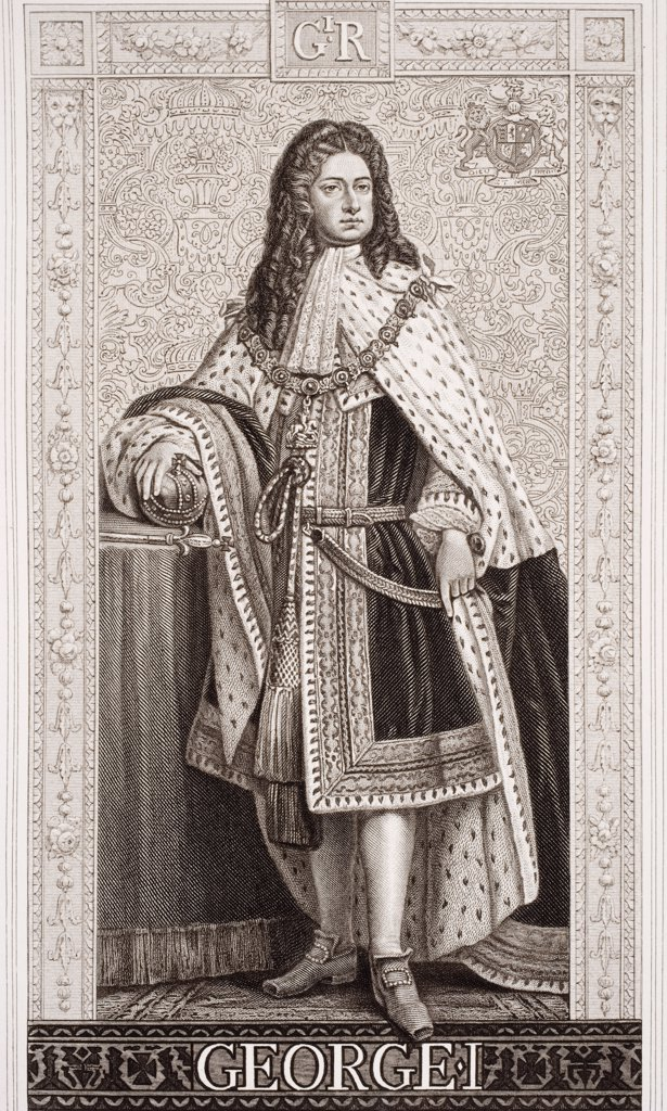 Stock Photo: 1899-41566 George I, Georg Ludwig, 1660-1727. King and Elector of Hanover, 1698-1727 and King of Great Britain and Ireland, 1714-1727.