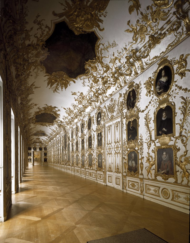 Munich Residenz (Royal Palace).  Interior by Johann Baptist Zimmermann (1680-1758). 1728-30. Munich, Germany.  : Stock Photo